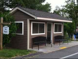 Sheltered bus stop