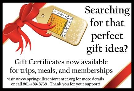 gift certificate postcard