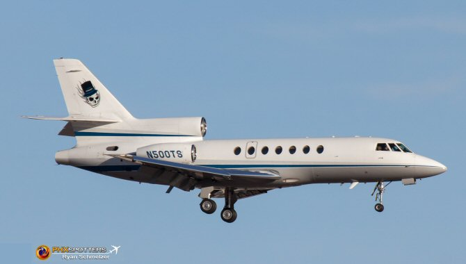 Dassault Falcon 50 Landing