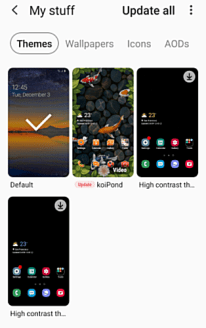 Samsung Cell Theme Customization