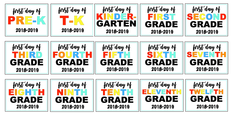 Picture of back to school photo sign options
