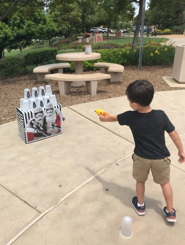 Blaster game at Jack's birthday party
