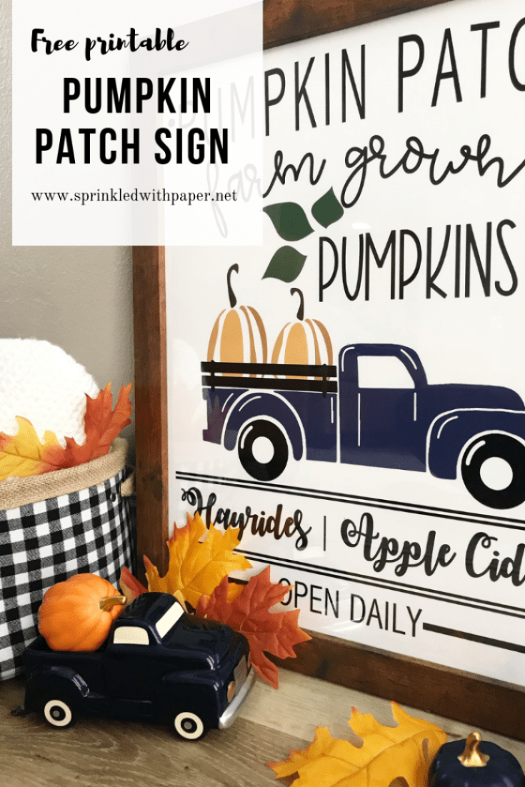 free printable pumpkin patch sign