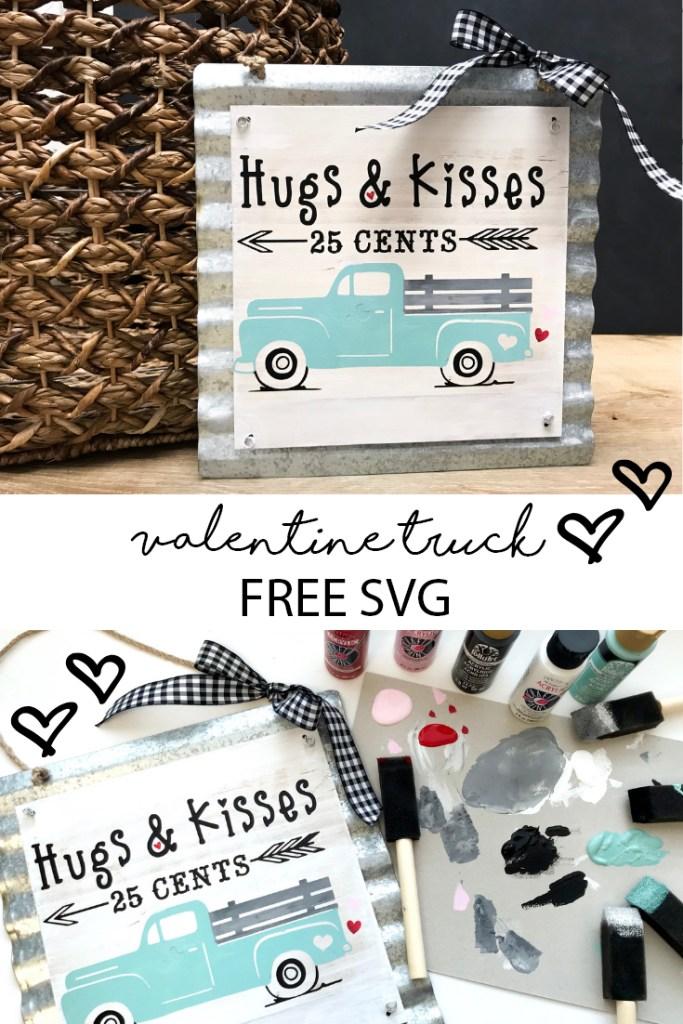 Valentine's Day Vintage Truck