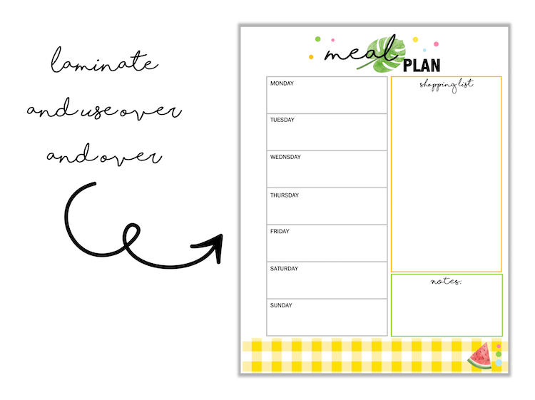 Printable Summer Organization Binder Sheets