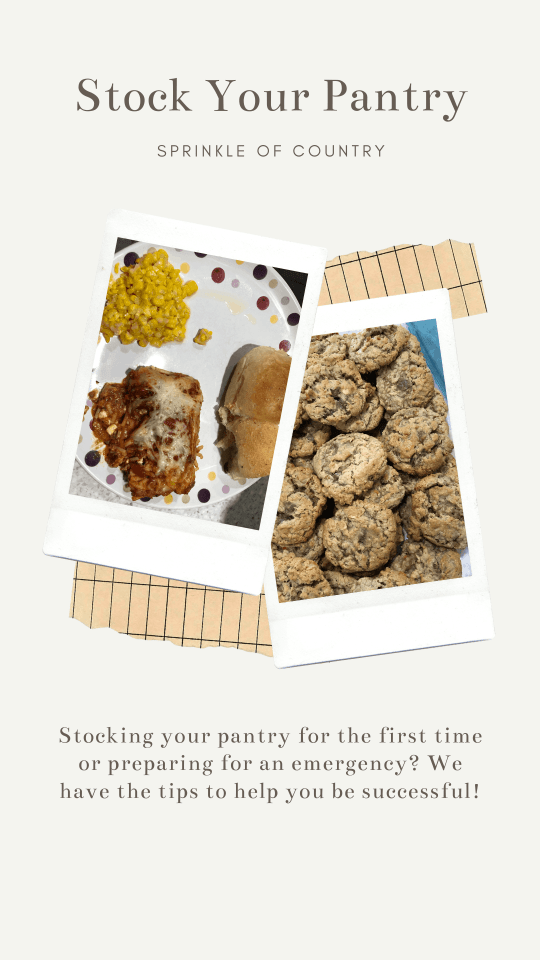 Pin image for stocking your pantry