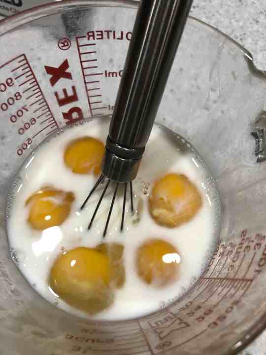 Mixing Eggs and Milk