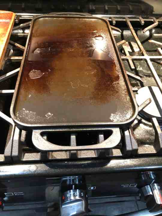 Oil heating up on the stove top