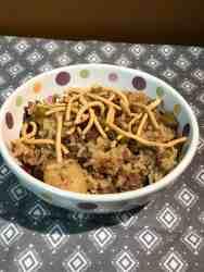 Make Ahead Beef Chop Suey Casserole