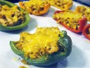 Fajita Chicken Stuffed Roasted Bell Peppers