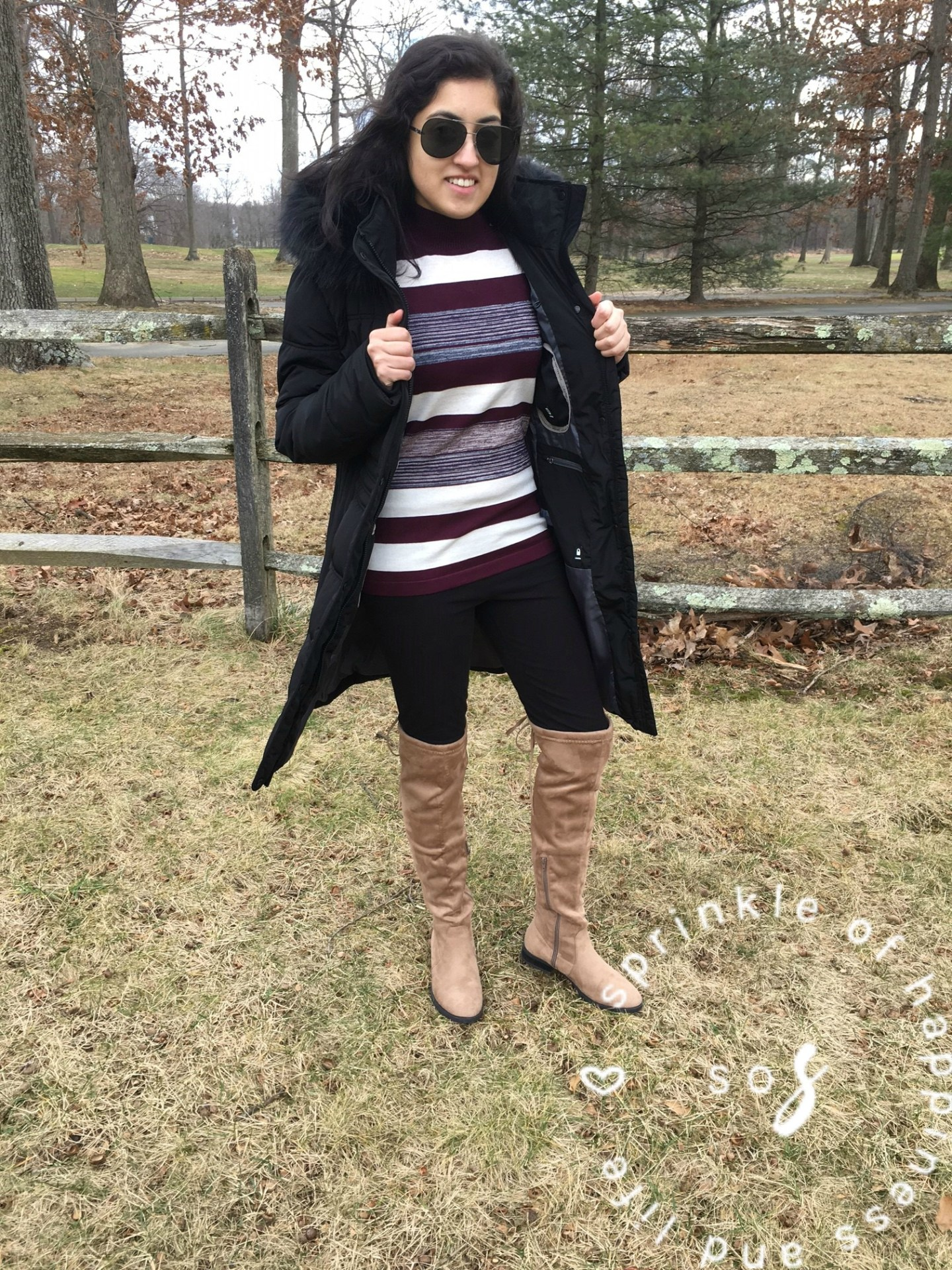 Cold Shoulder + OTK Boots! #ootd for Valentine's Day!