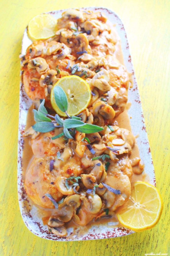 Chicken Marsala - sprinkles and sauce