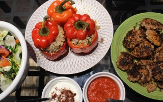 Turkish cuisine spread at home