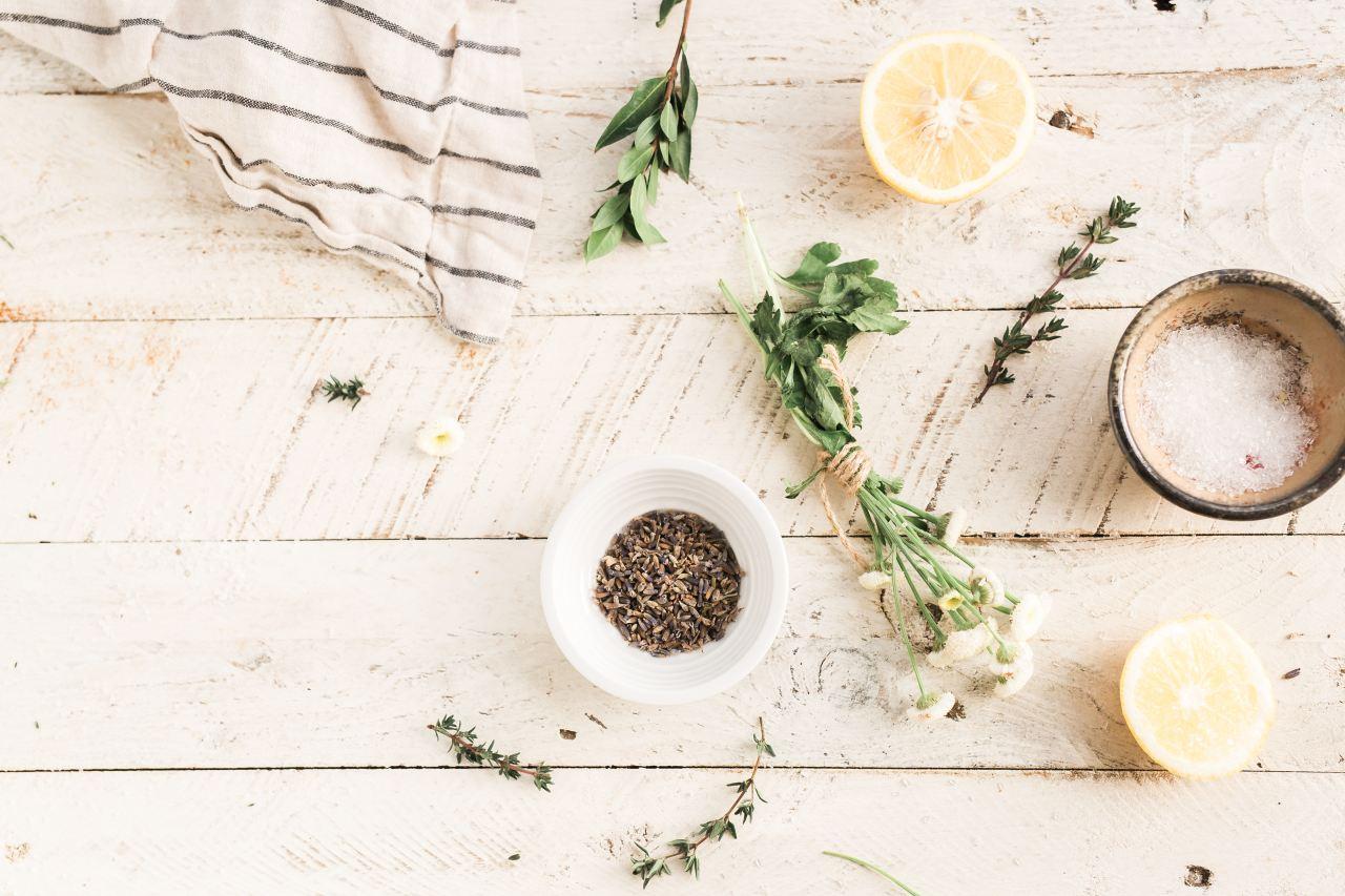 Herbs and lemon