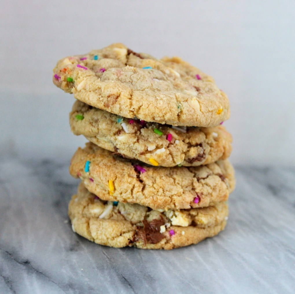 Confetti Chocolate Chip cookies with Sprinkles!