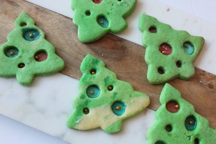 Christmas Tree Ornament Cookies