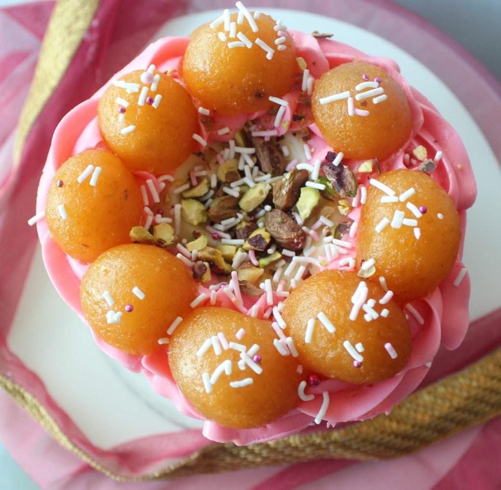 Gulab Jamun Cake