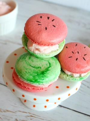 Watermelon Macarons & Watermelon Ice Cream