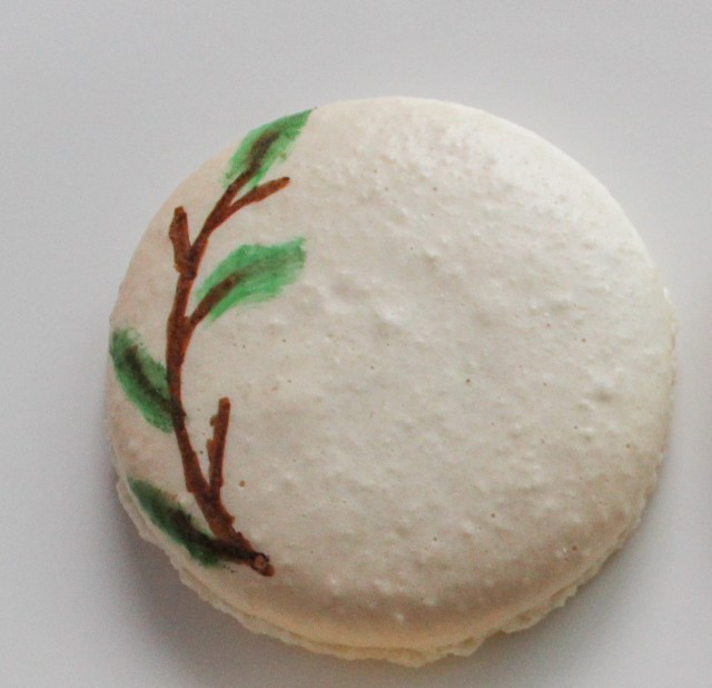 hand painted floral macaron step 2
