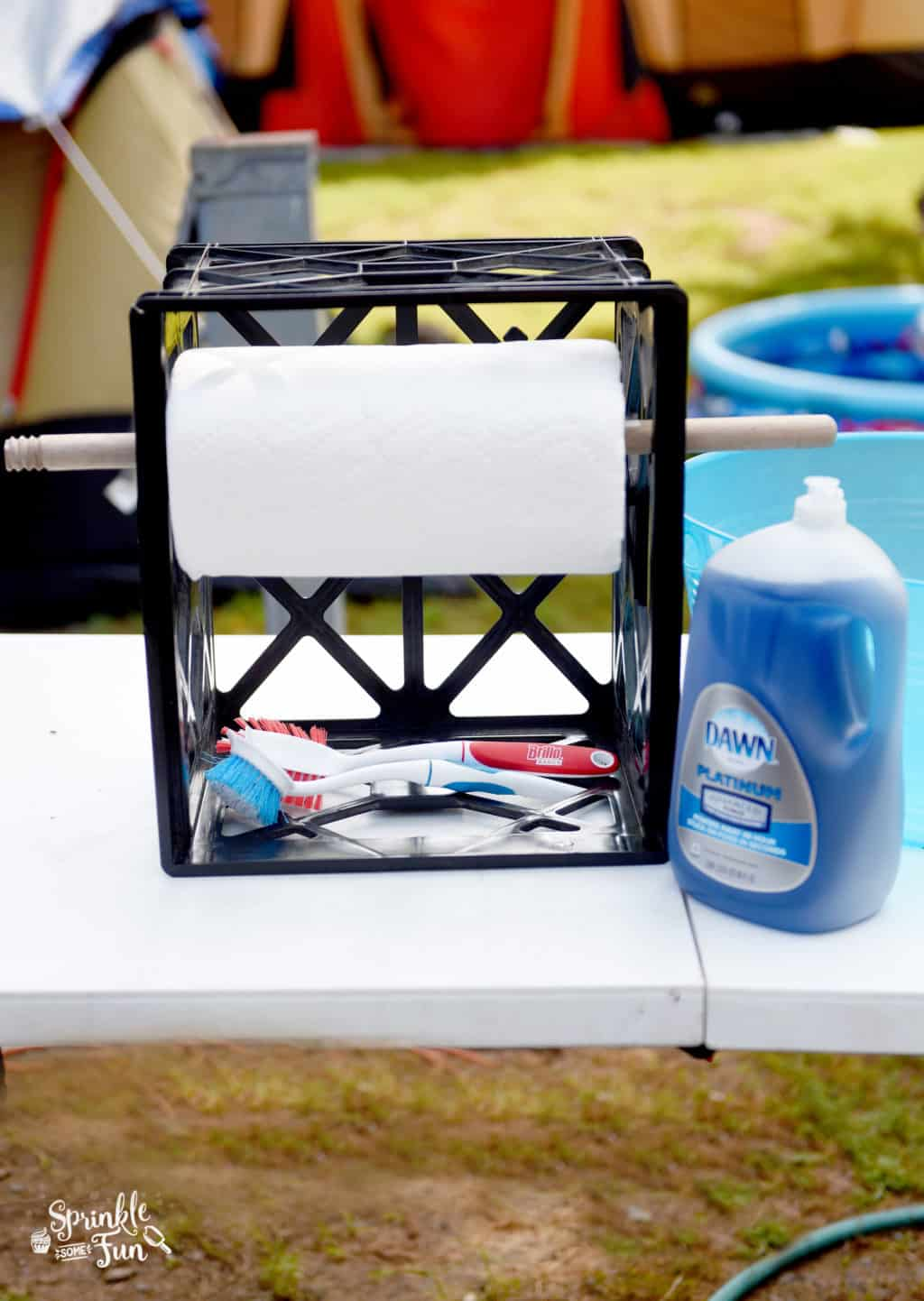Dishwashing Station For Camping Sprinkle Some Fun