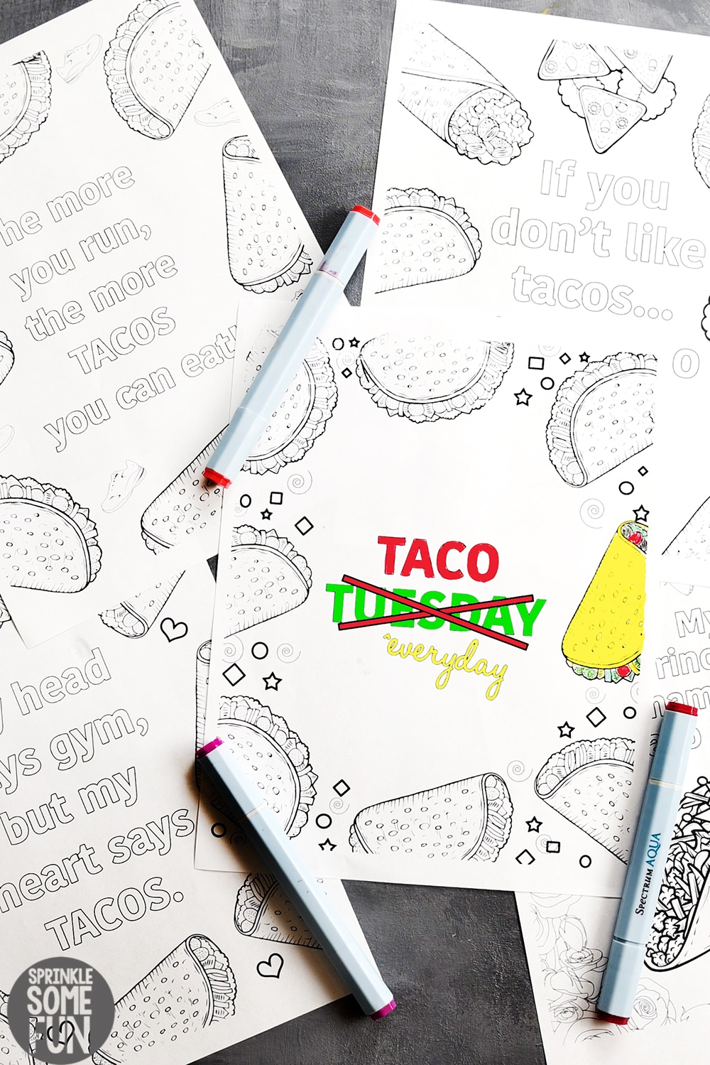 5 free funny taco quotes coloring pages sprinkle some fun, love quotes coloring pages