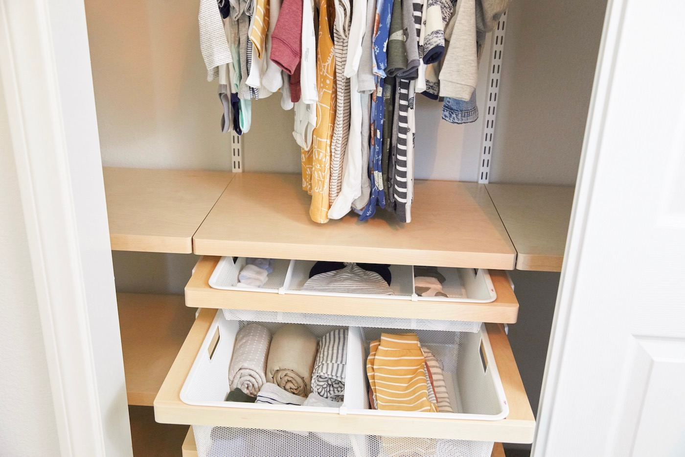 Nursery Closet Design Organization With The Container