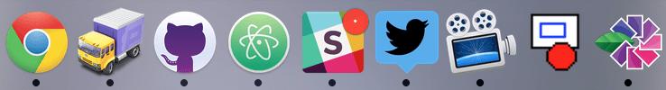 Apple's application dock in OSX
