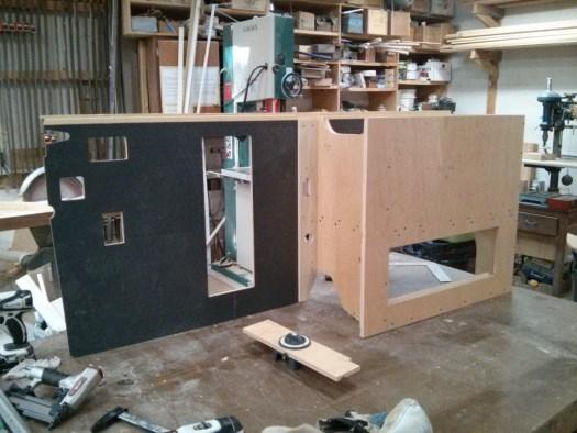 The battery box in Ken's workshop