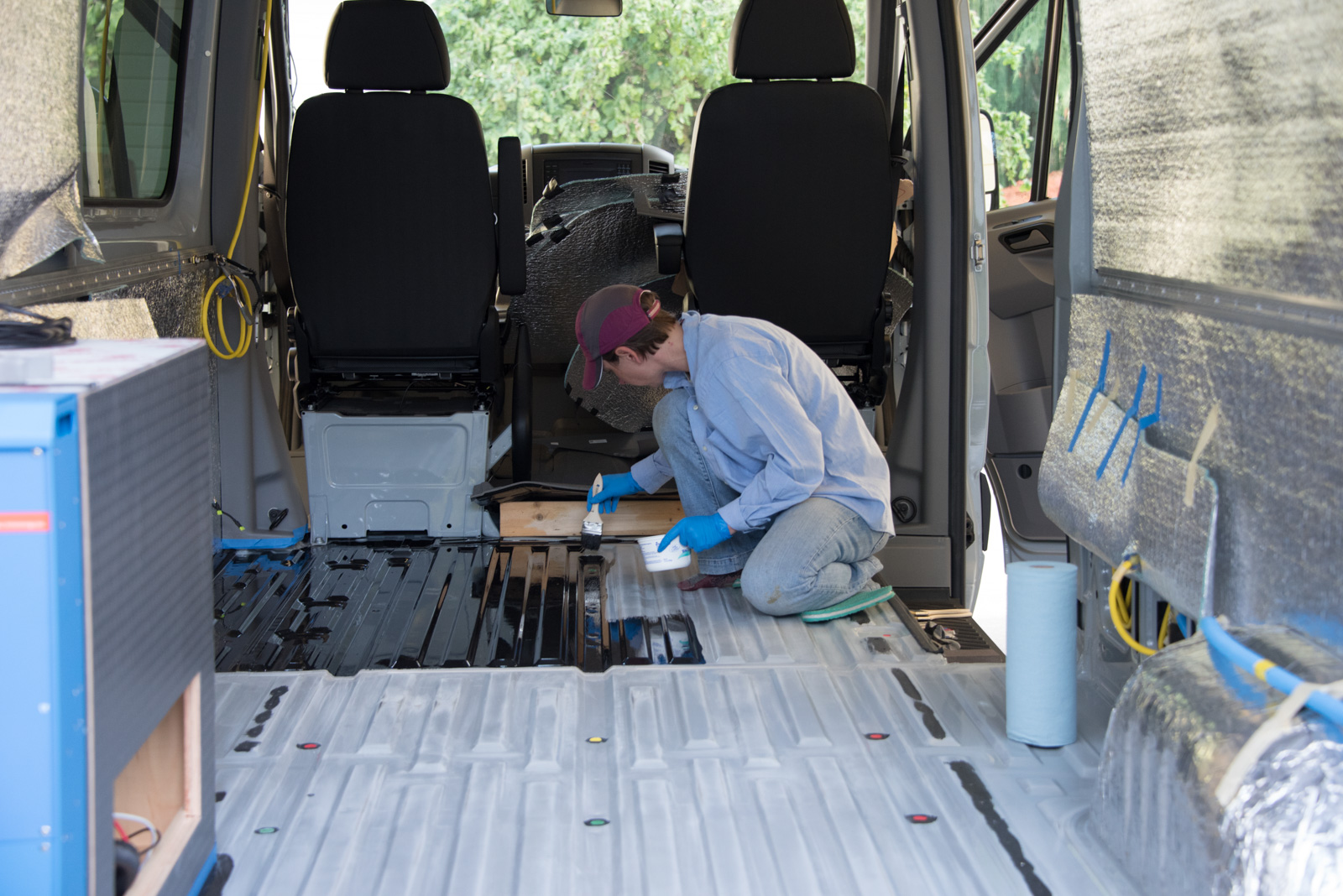 Van floor prep with POR15