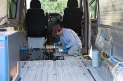 Van floor prep with POR15
