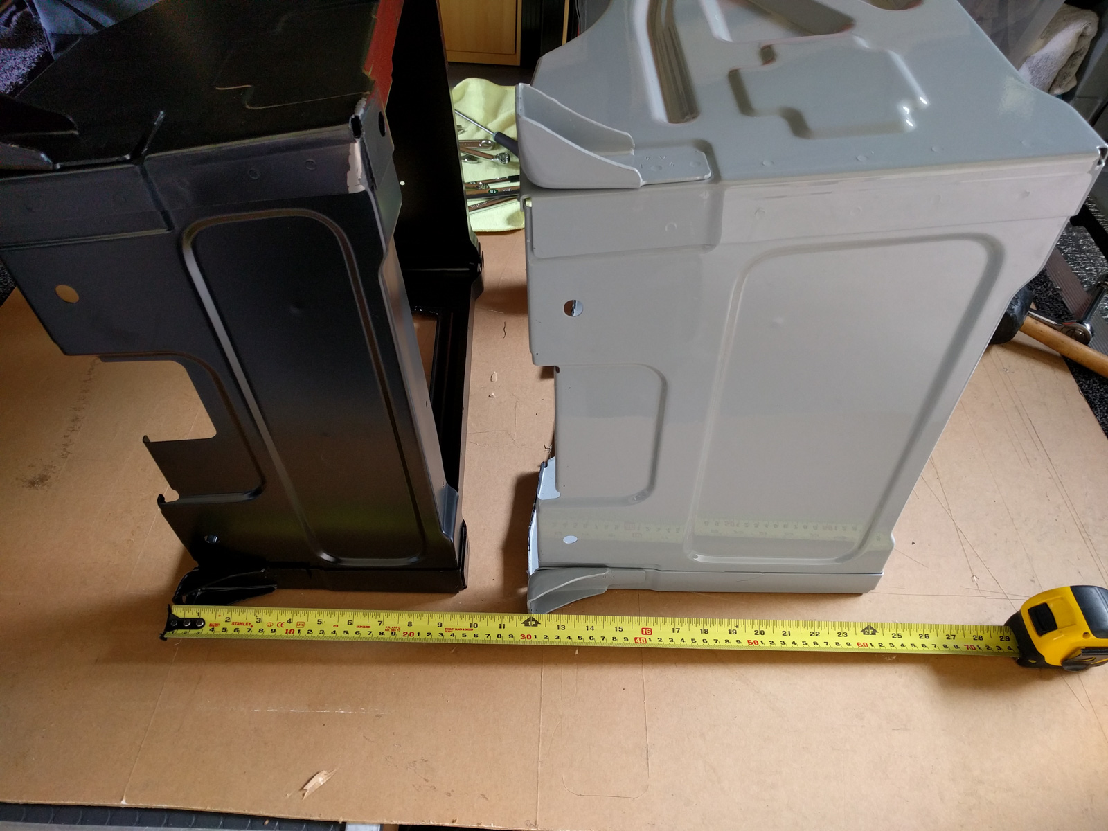 Replacing the seat bases with lower models for the swivels and air ride suspension seats