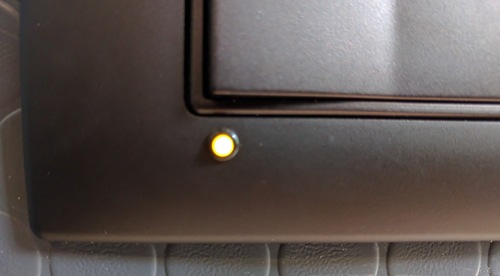 Heater switch LED