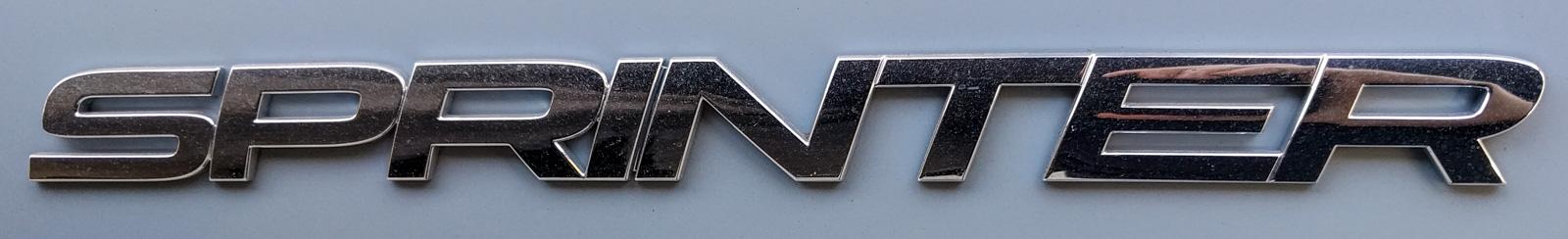 Sprinter rear door badge