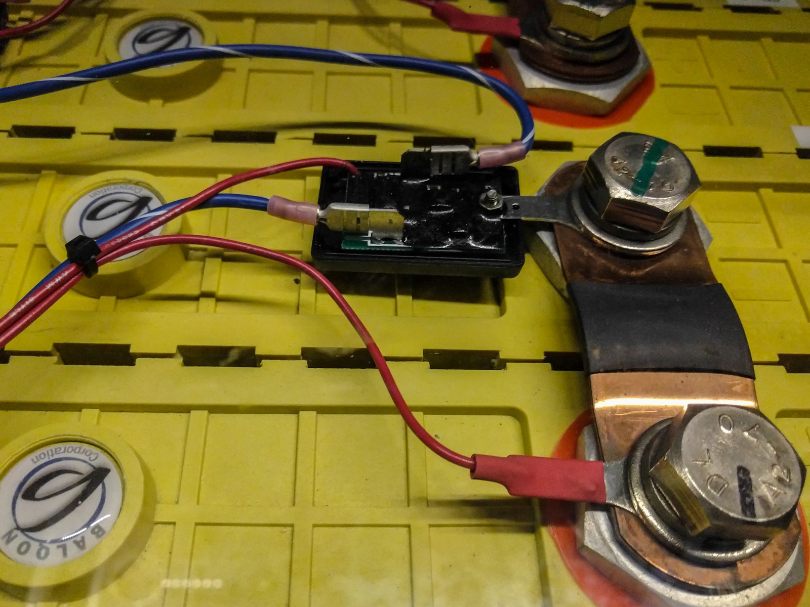 Lithium battery cell with management system (BMS)