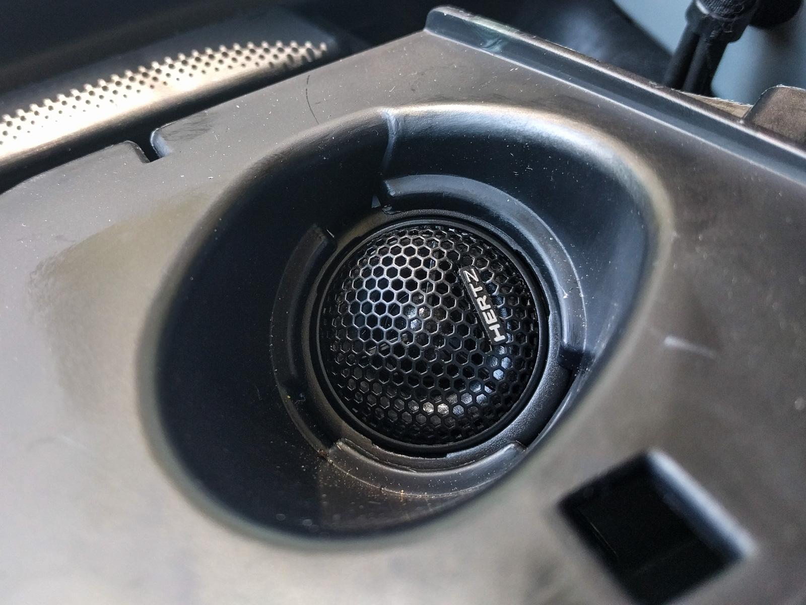 How To Replace Sprinter Door And Dash Speakers Adventure Van 2013 Mb Wiring Diagram Pull The Tweeter Wire Through Underside Of Surround Then Crimp On