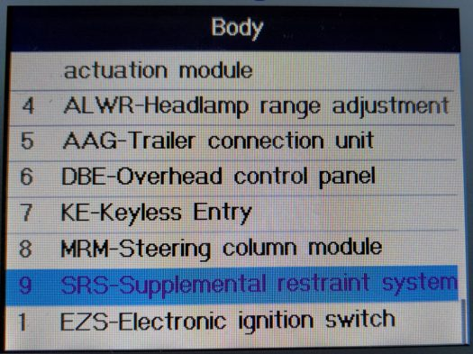 Here's the SRS entry within the Body unit group