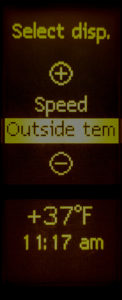 Show temperature in the secondary dash display