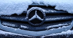 Snowy icy sprinter grille