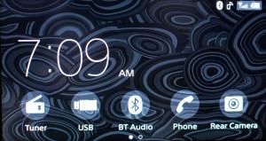 Sony XAV-AX100 stereo home screen