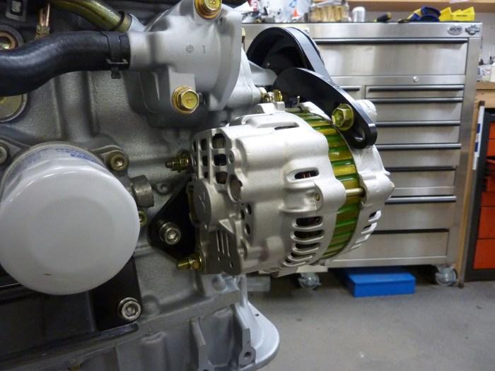 Subaru Justy Alternator Installed 2
