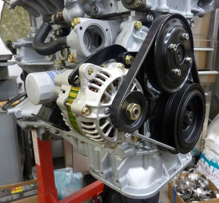 Subaru Justy Alternator Installed