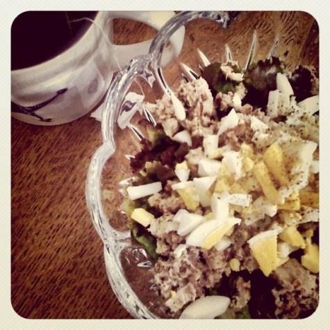 Grilled Tuna and chopped egg salad #4eu #incourage