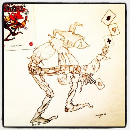 Joker : #homeschool #art #illustration #cards #joker