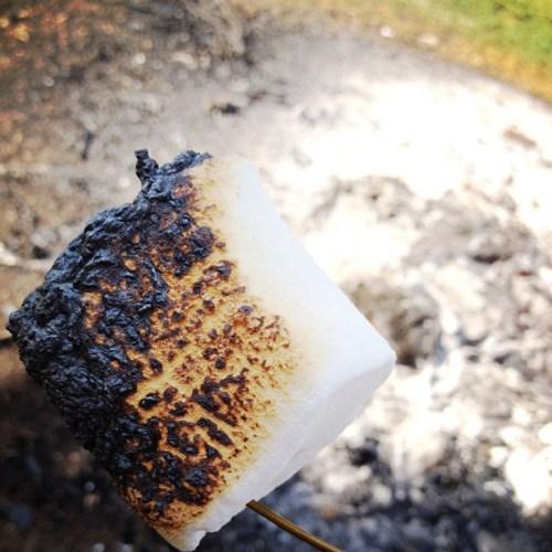 Burnt to perfection. #ilove #hersheys #smores #marshmallow #yumminess