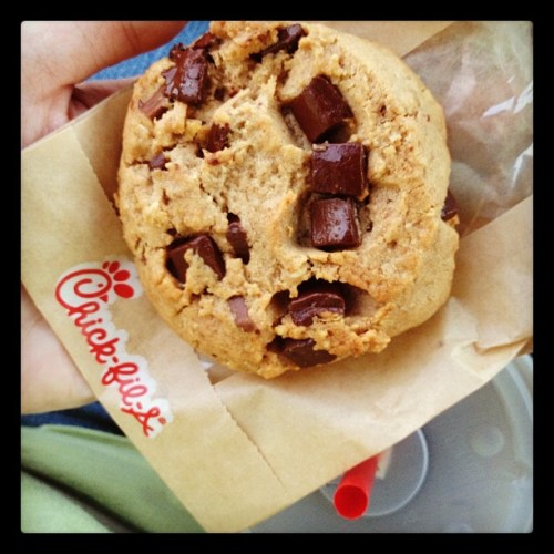 Oh, yeah. #chickfila #chocolatechunkcookie