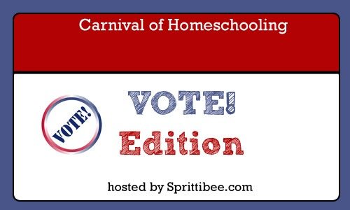 vote! edition carnival of homeschooling, graphic by maureenspell