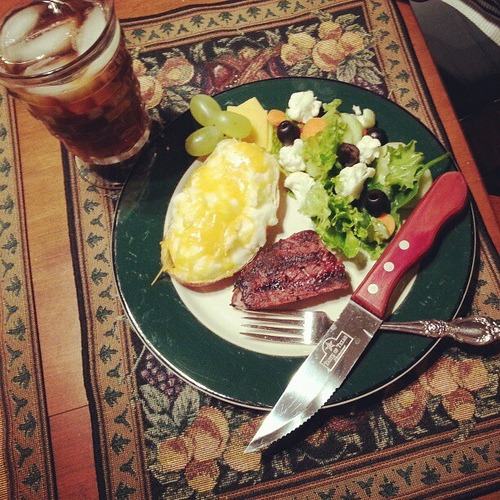 Nice change of pace from turkey... steak and twice baked potatoes. Mmmm. #beef