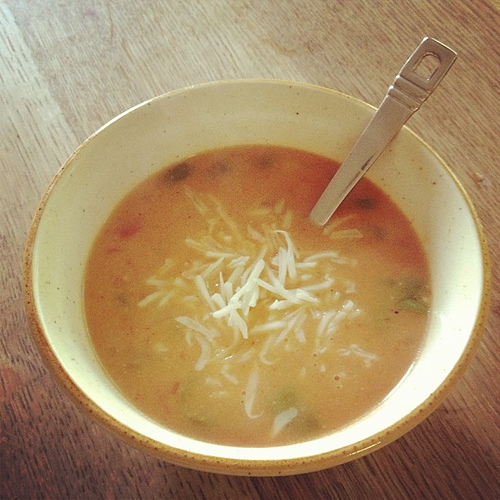 Cheese and Chicken Enchilada Soup #foodie
