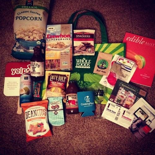 Thanks for the yummy loot! #bbatx @wholefoodsatx @wholefoodspr @atxfoodblogs