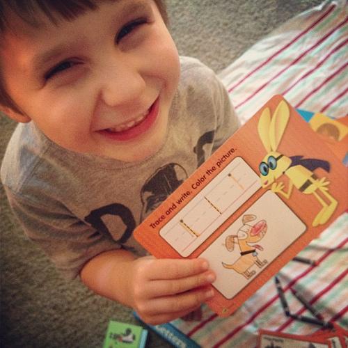 Dry erase flash cards. #preschool